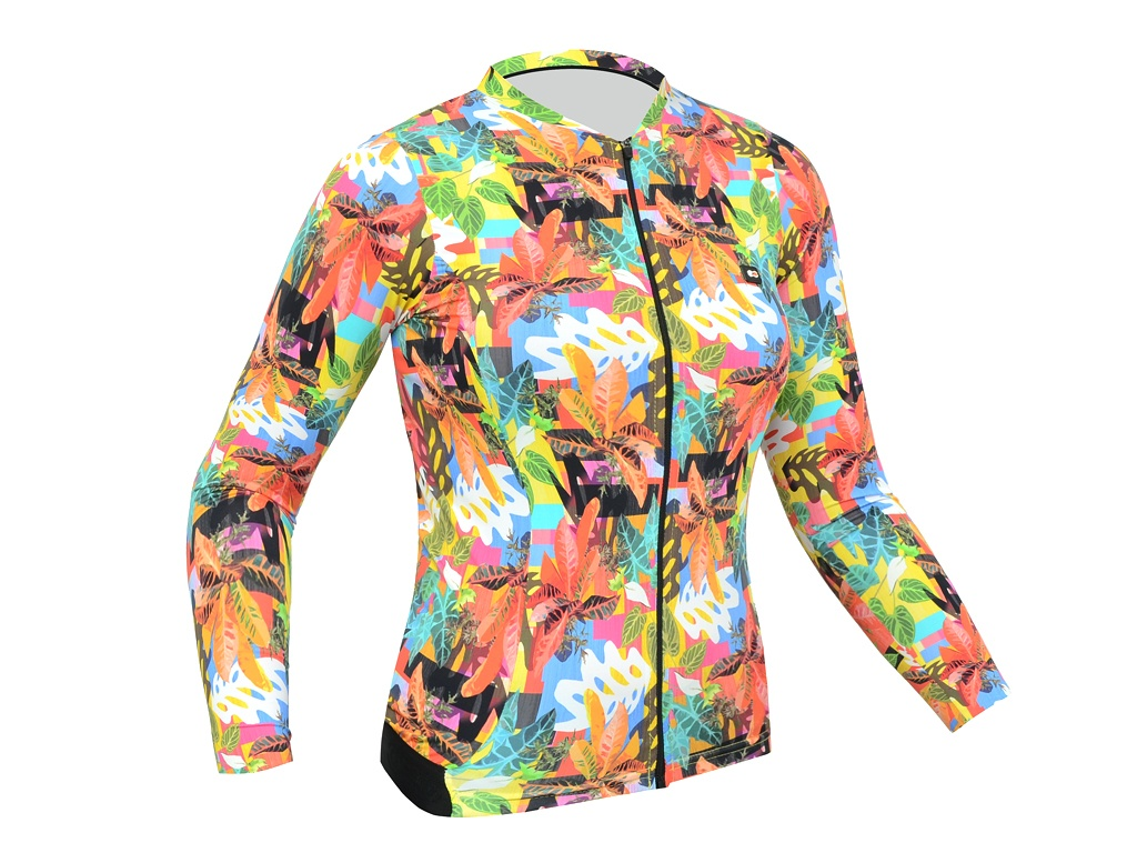 Camisa Marcio May Cool Leaves Manga Longa Feminina